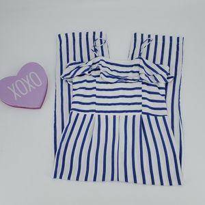 ZARA GIRLS SOFT COLLECTION blue stripe romper